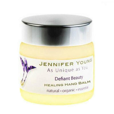 Defiant Beauty Healing Hand Balm is perfect for soothing and moisturising dry hands due to menopause.