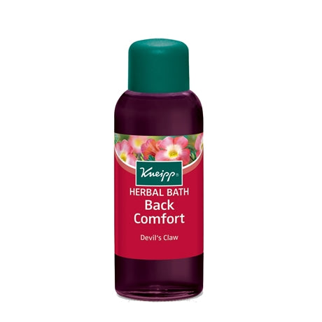 The Kneipp back comfort herbal bath soothes sore back muscles caused by menopause.
