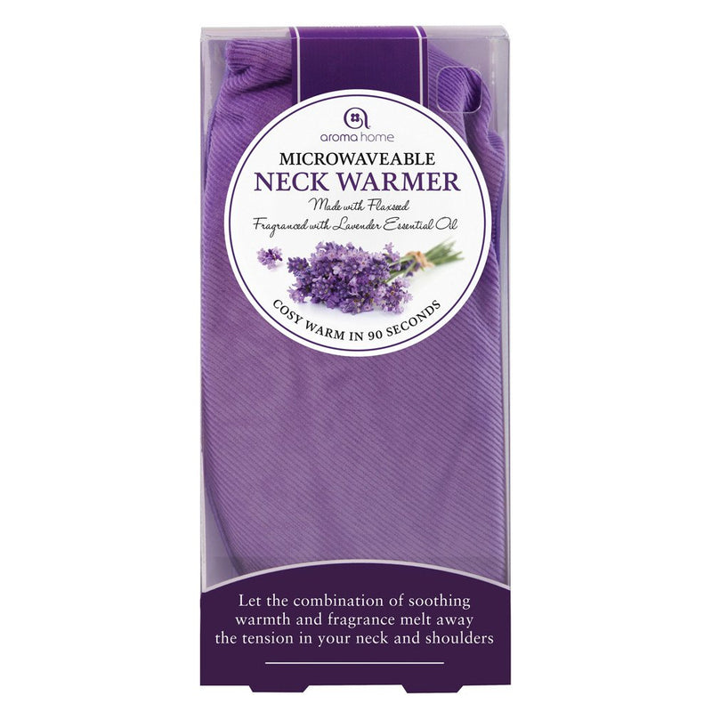 The Aroma Home neck warmer heats up to soothe the neck and aching muscles due to menopause.
