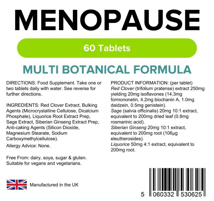 Lindens Menopause Formula Supplements