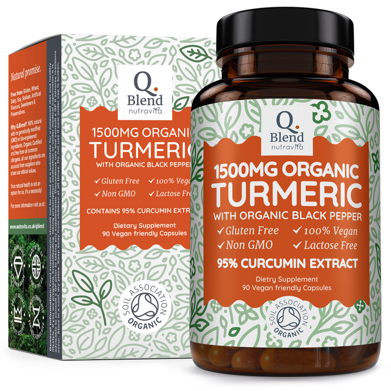 Nutravita Organic Turmeric with Black Pepper 1500mg 90 Capsules