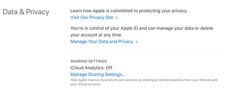 get apple data on you