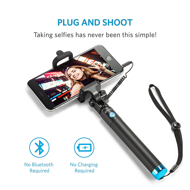 Wired EMF Protection Selfie Stick