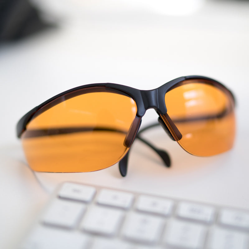 Wrap Around Blue Light Blocking Glasses For Full Protection - For Better Sleep & Calm Days