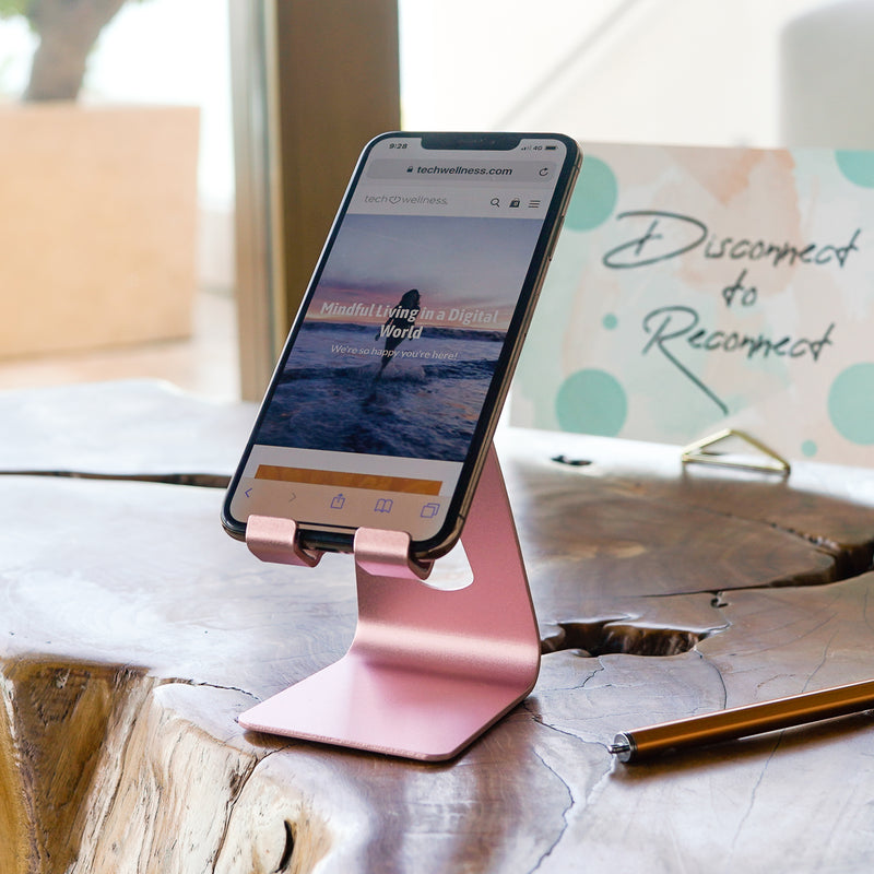 Our Best Smartphone Stand. Adjustable and so Pretty. The Tech Stand in Rose Gold or Black