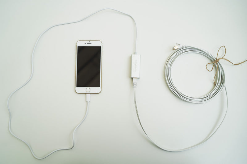Hard Wire iPhone, Android, Laptops with NO EMF Internet Ethernet Cable