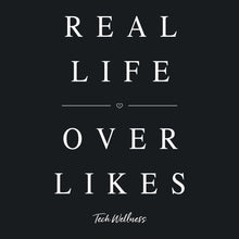 A Girl's Got Priorities: REAL LIFE OVER LIKES Says it All and Gives to Sit With Us! Wellness Wear Tech Wellness