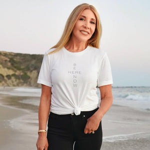 Be Here Now Unisex Crew Neck Tee Wellness Wear Tech Wellness