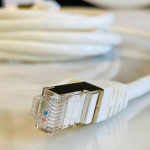 Cable To Hardwire iPhone, Computers, WiFI and All Devices to the Internet. Double Shielded! Our No EMF CAT 8 Ethernet Cord is Awesome!