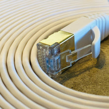 Connect iPhone, Computers,Laptops, Tablets and MORE to Internet. Hard Wire With NO EMF Cat 8 50 foot white