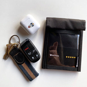 Faraday Bag That's Not Fancy, But Nice. Tech Wellness Black Faraday SMALL: Key Fob, Flip Phone / Smart Phone (15.5 x 9 CM // 6.1 x 3.54 Inches )