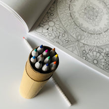 Mindulness coloring book and colored pencil