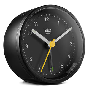 Keep The Bedroom EMF Radiation Free! Beautiful Modern Alarm Clock Body Tech Wellness Black Clock with Black Dial