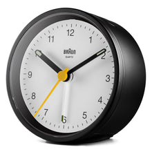 Keep The Bedroom EMF Radiation Free! Beautiful Modern Alarm Clock Body Tech Wellness Black Clock with White Dial