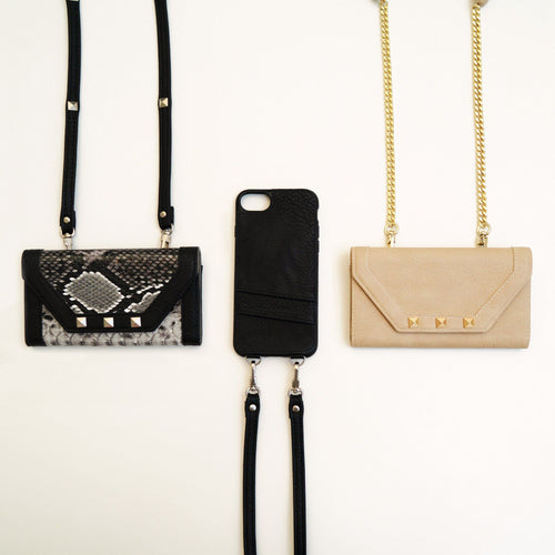 Lovely Crossbody / Wrist Chain Phone Case- and RFID Wallet- For A Safe Distance From Your Cellphone! Body Tech Wellness