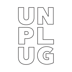 Men's Unplug Graphic White Tee Wellness Wear Tech Wellness
