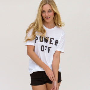 Power Off Unisex Crew Neck Tee Wellness Wear Tech Wellness