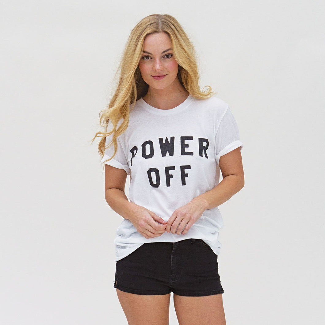Power Off Unisex Crew Neck Tee Wellness Wear Tech Wellness xtra small