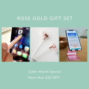 Rose Gold Gift Set - Limited Time Cyber Month Special! Tech Wellness