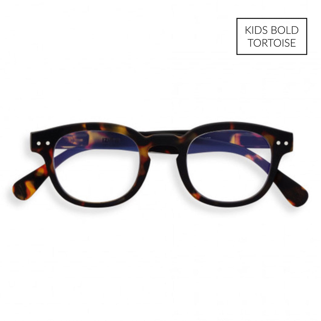 Top Kids Blue Light Blocking Glasses- For Homework, Games and TV Blue Light Blocker Tech Wellness FASHION FORWARD BOLD TORTOISE $42.00