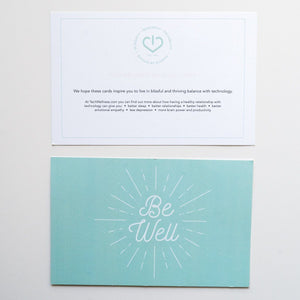 Unplug•Intention Cards • Gentle Reminders To Live In Balance With Technology Tech Wellness