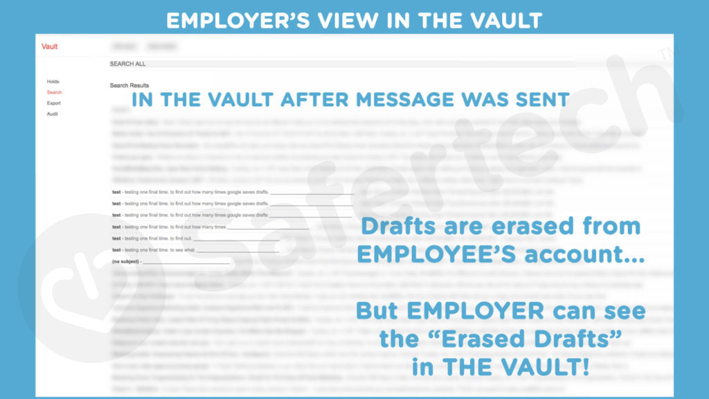 Google Vault Employers View