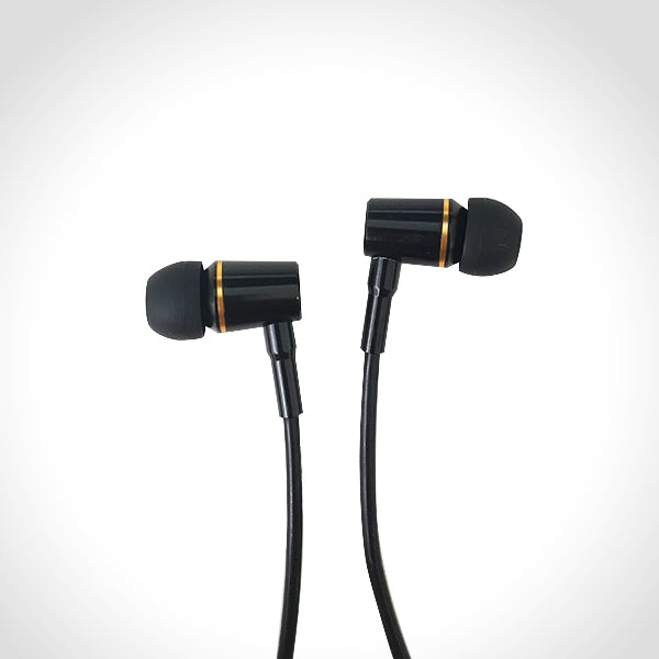 Air Tube Headset Black With Gold Accents