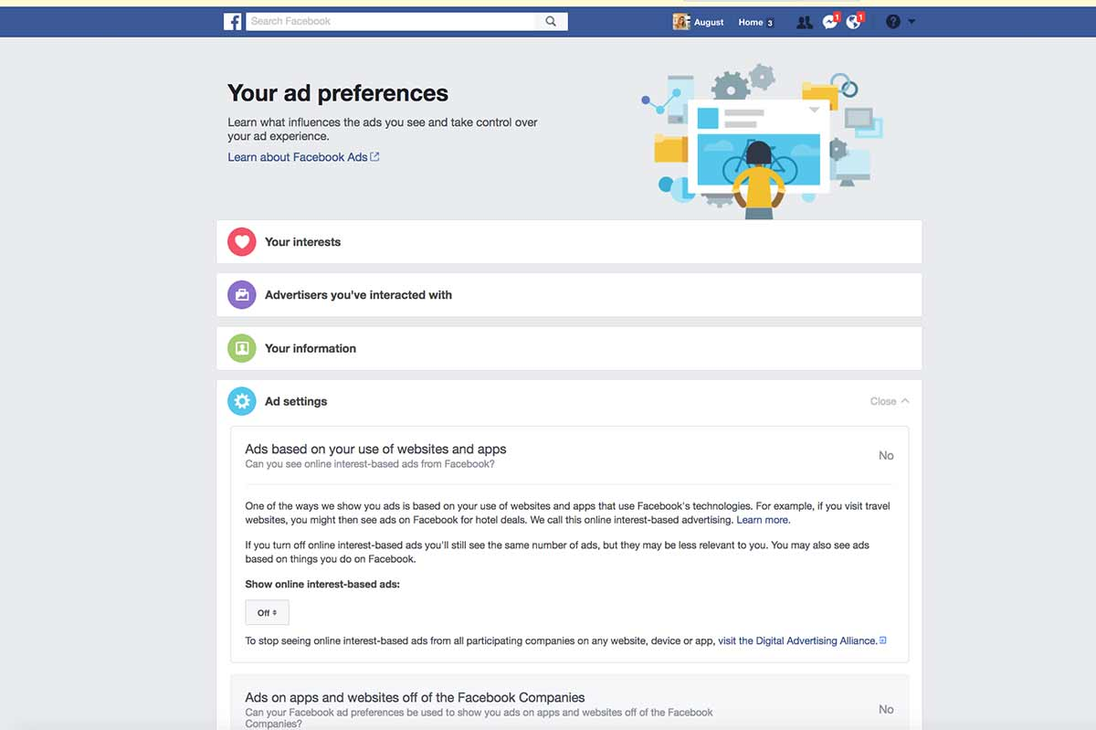 Privacy See what Facebook knows about you