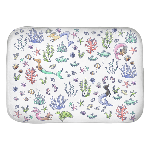 Under the Sea Dox Bath & Kitchen Mat - Daring Dachshund