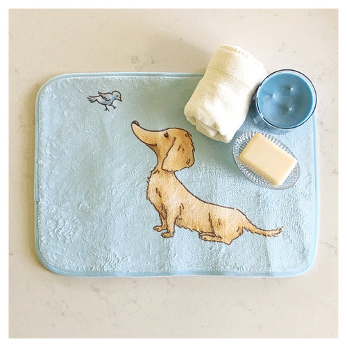 Goldie Dox Bath & Kitchen Mat - Daring Dachshund