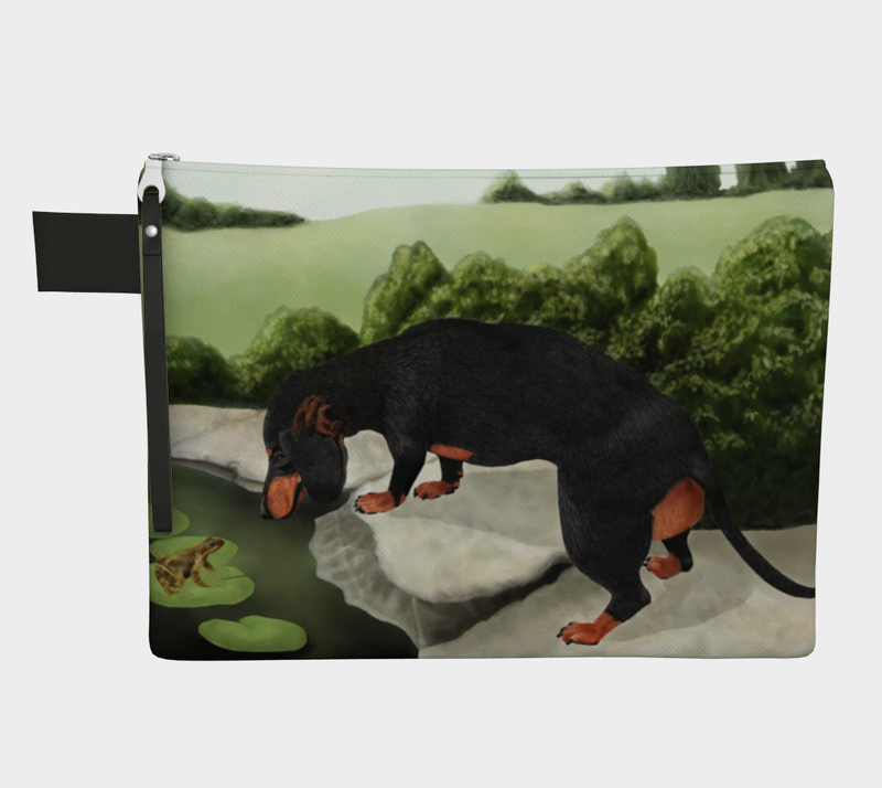 Daring Dachshund Froggy Friend On the Go Bag