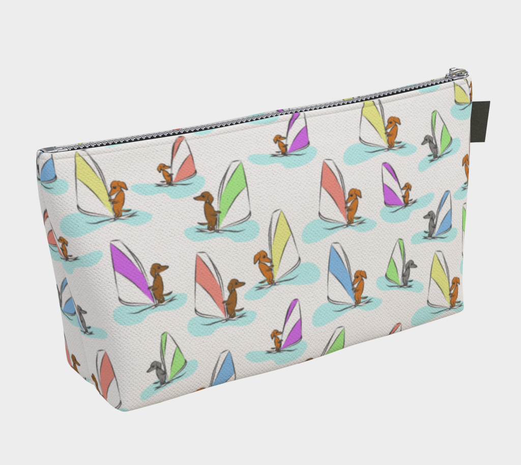 Daring Dachshund Windy Dachs Cosmetic Bag