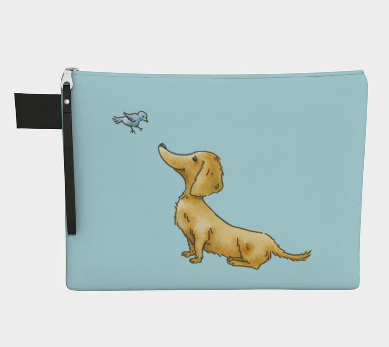 Daring Dachshund Goldie Dox On the Go Bag