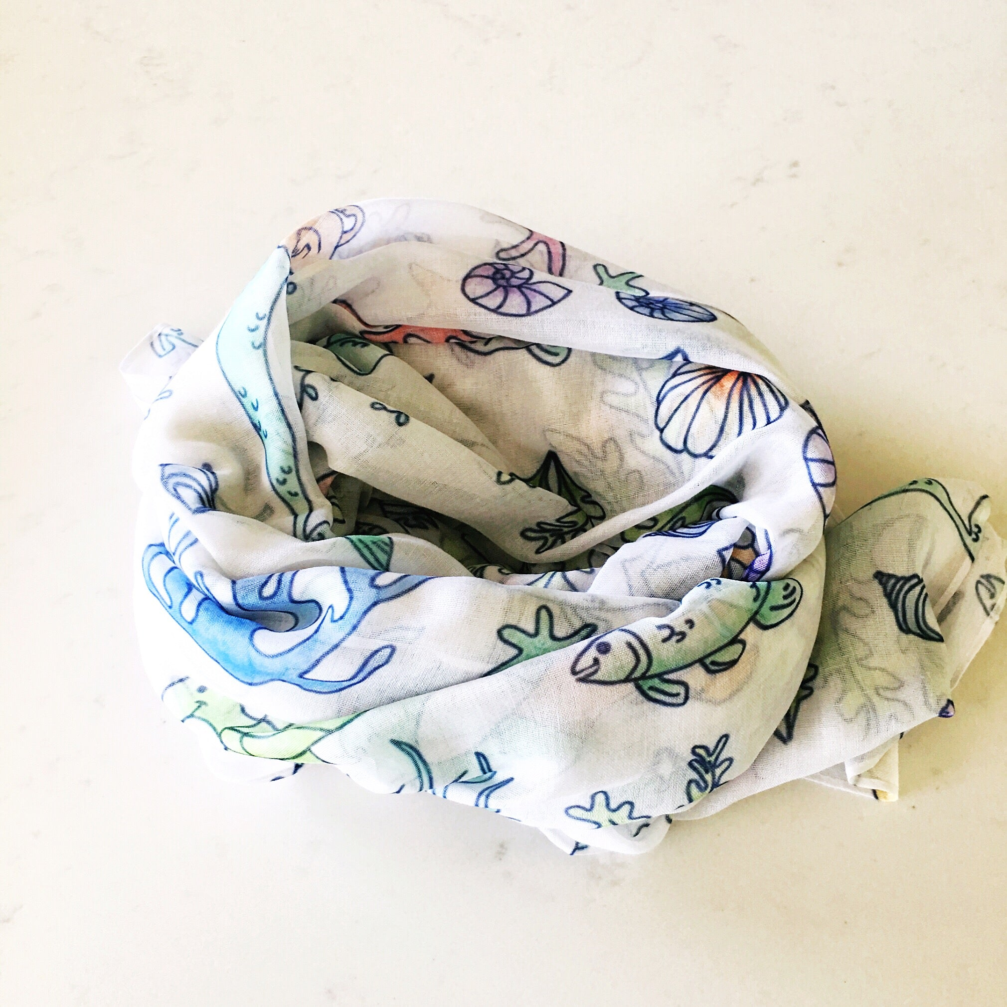 Airy Scarf - Under the Sea Dox