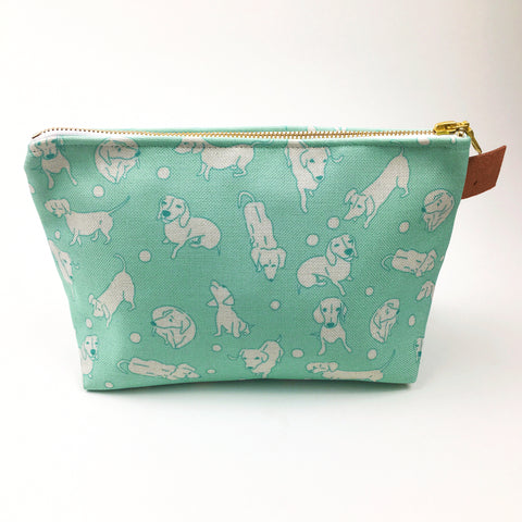 Cosmetic Bag - Teal Hula Dox