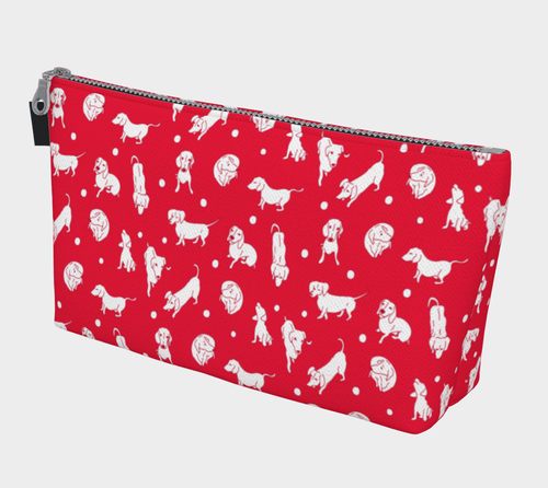 Cherry Weens Cosmetic Bag - Daring Dachshund