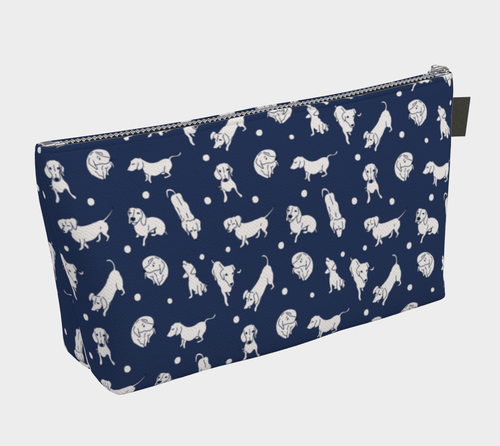 Midnight Weens Cosmetic Bag - Daring Dachshund