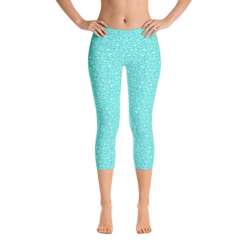 Field of Weens - Capri Leggings - Daring Dachshund