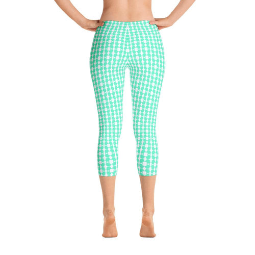 Bright Eyed Buster - Mint - Capri Leggings - Daring Dachshund