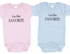 Twin Bodysuit 2 pack - I'm the Favorite