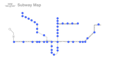 Map of all accessible TTC subway stations