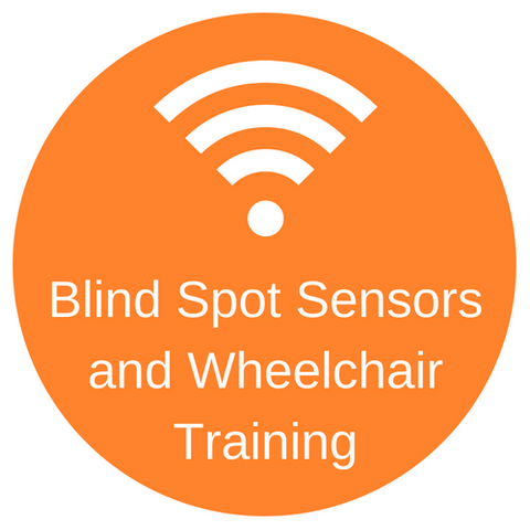 Blind spot sensors and wheelchair training and assessment, increase awareness for people who use wheelchairs