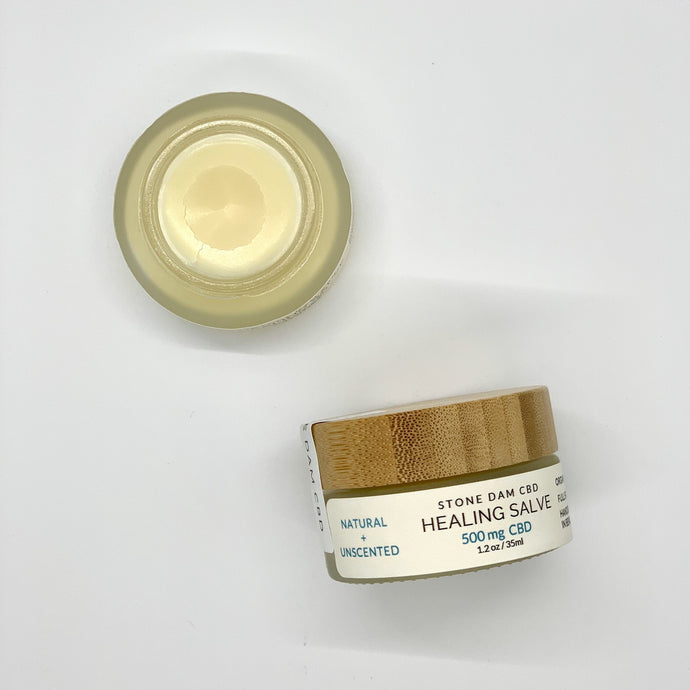 Healing Salve 500mg CBD - Unscented - 1.2oz (35ml)