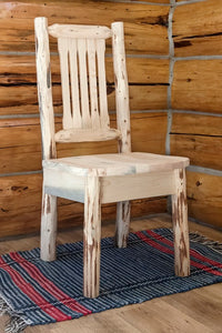 Rustic Log Dining Room Chairs - Amish Made