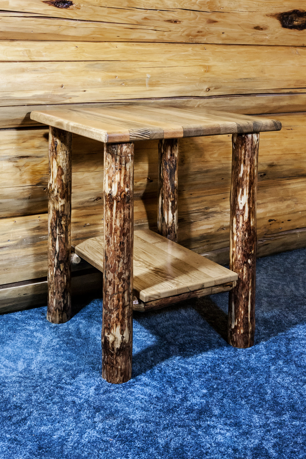 Rustic Log End Tables and Night Stands