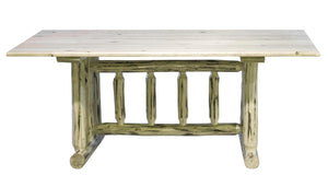 6 Foot Rustic Log Dining Tables 4 Post - Pedestal - Trestle - Amish Made