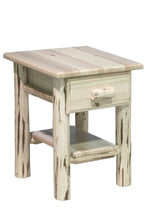 Log End Tables and Night Stands Natural Finish