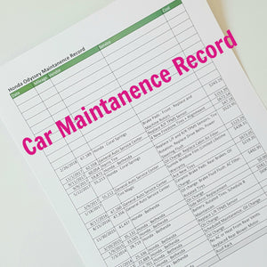 How do I track my vehicle maintenance records?