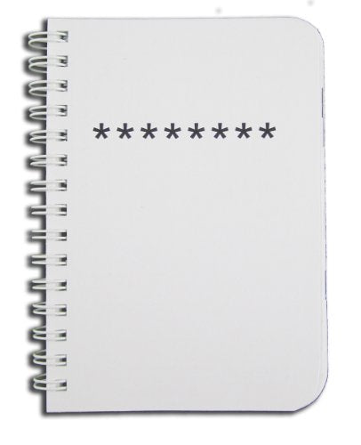 BookFactory Password Journal / Password Organizer / Password Book / Password Keeper, 120 Pages - 8 1/2