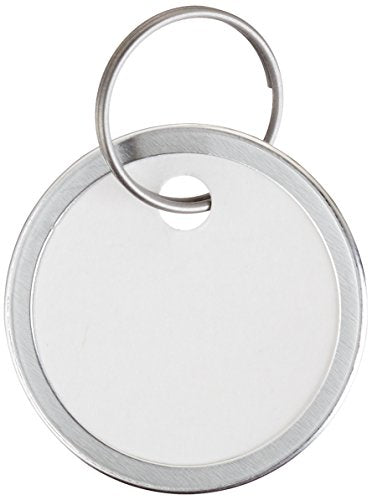 Avery Key Tags, Split Ring, White, 1.25 Inch Diameter, Pack of 25 (11027)